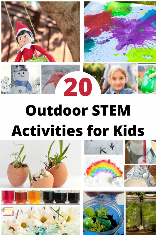 Outdoor STEM activities are a great way to get the kids outside and moving. Combine that with learning, and it's the perfect option for burning off energy while working their minds.