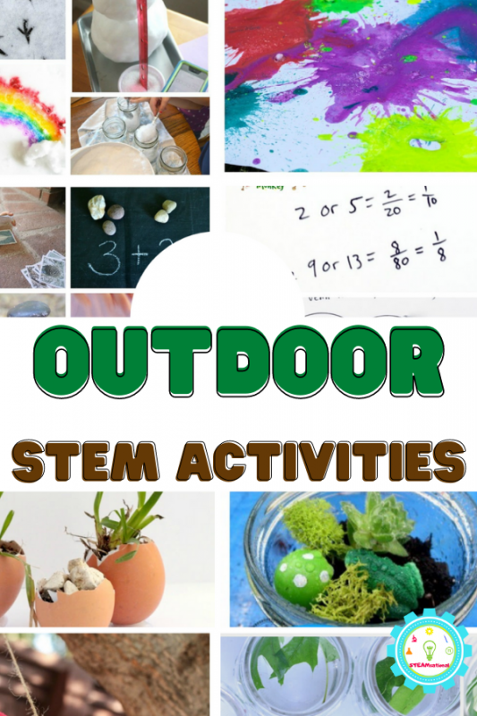 These outdoor STEM activities take you out into the sun (or snow!) and give you 20+ STEM activities to try outside!