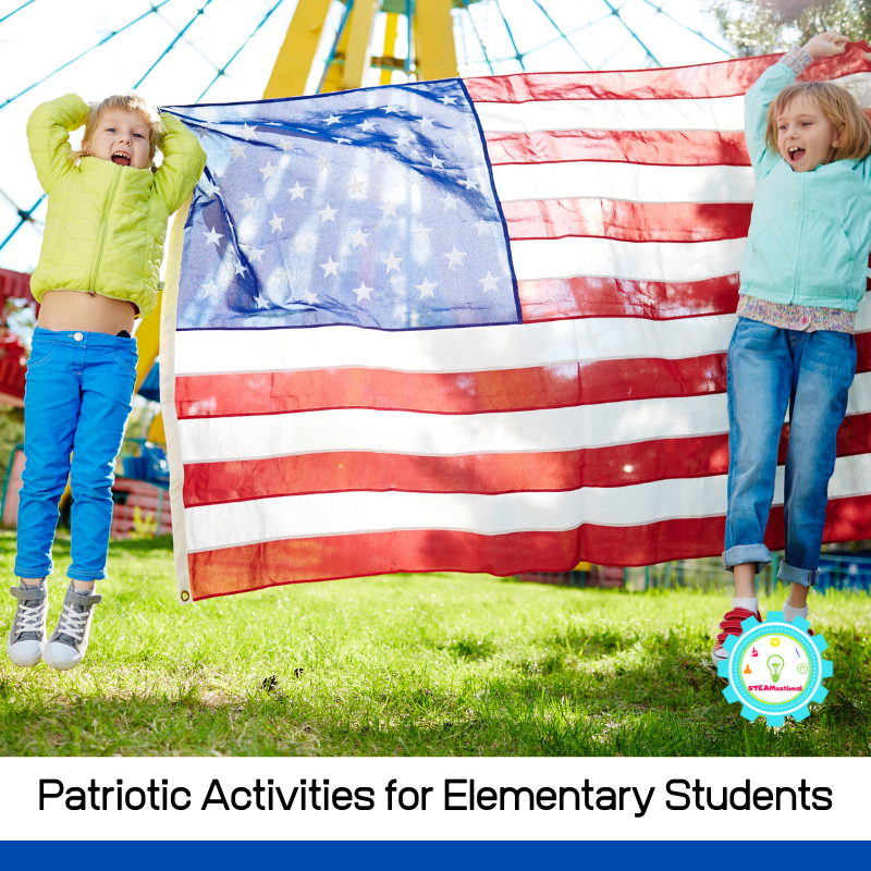 Try these easy patriotic activities for elementary students and make it a memorable summer! Even if you're not doing your patriotic activities for kids during the summer (maybe you're from another country or you are celebrating President's Day!), you can still enjoy these patriotic activity ideas that kids aged 5-12 will really love!