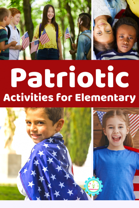 Check out this list of fantastically fun patriotic activity ideas for elementary!