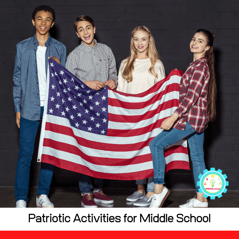 These patriotic activities for middle school are colorful, fun, hands-on, and cover a wide range of interests from the sporty kid to the science lover.