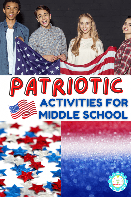 20+ Exciting patriotic activities for middle school! Patriotic activities covering science, art, games, trivia, and more!