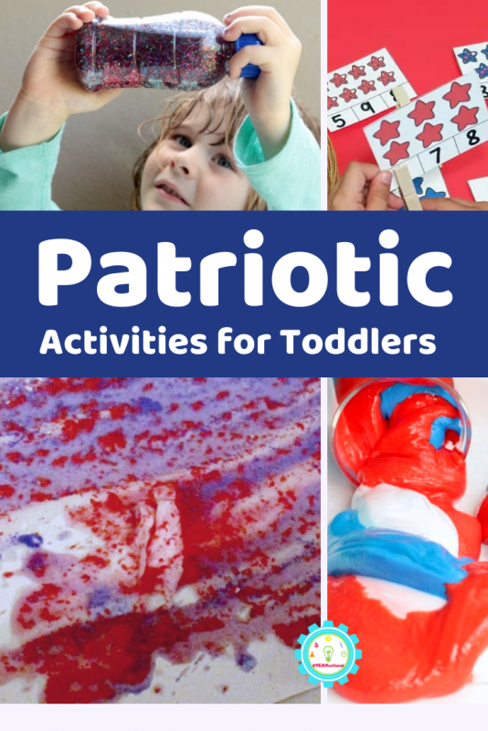 It doesn't have to be the 4th of July for these patriotic toddler activities, but it certainly helps!