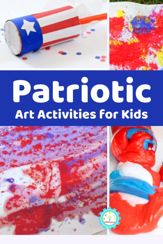 If you're looking for patriotic art projects for elementary students, this is the place to be! Here you'll find some of our very favorite patriotic activities for kids that center on patriotic art and crafts!