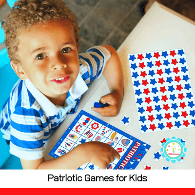 It doesn't matter if you do these games on the 4th of July or not, any time you want to celebrate the stars and stripes or the old red, white, and blue, these 4th of July games are for you!