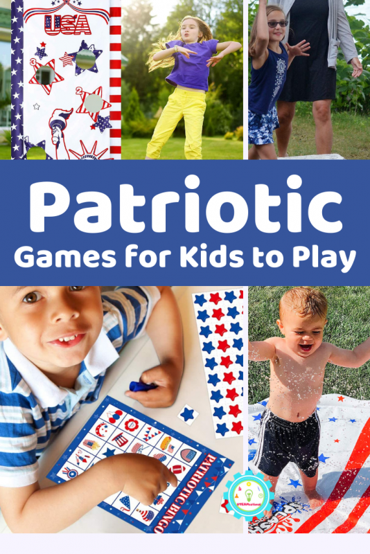 These super fun, red, white, and blue themed patriotic games for kids are what every kid will love playing on the 4th of July and all summer!