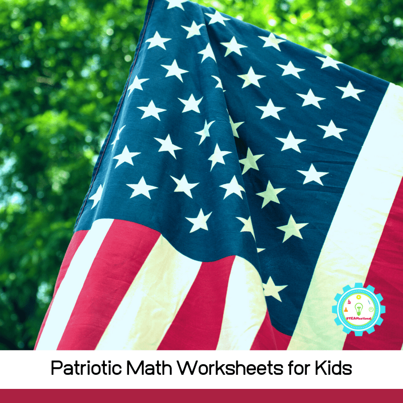 Check out these fun math worksheets for kids with a patriotic twist! And if you get tired of patriotic math printables, don't miss our list of hands-on math activities for kids.