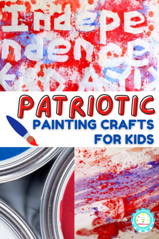 Check out these 11+ easy patriotic painting ideas for kids! So many ways to paint with pretty red, white, and blue for the summer.