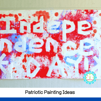 Patriotic Painting Ideas Filled with Bursts of Red, White, and Blue Color
