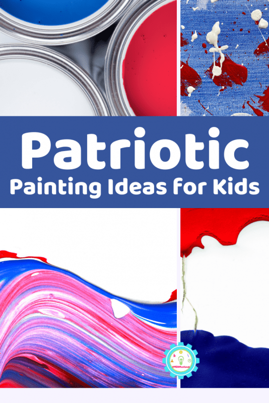 Check out these 11+ easy painting ideas for 4th of July for kids! So many ways to paint with pretty red, white, and blue for the summer.