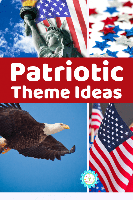 If you need some new patriotic theme ideas for celebrating America in your daycare, summer program, at home, or at school any time of year, these are the unique patriotic themes you've been searching for!