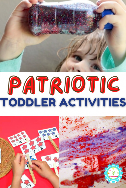 We are doing a summer filled with patriotic activities for kids! Today, we are sharing our favorite resources for patriotic activities for toddlers. There is no reason why even the youngest kids can celebrate the season with patriotic activities!