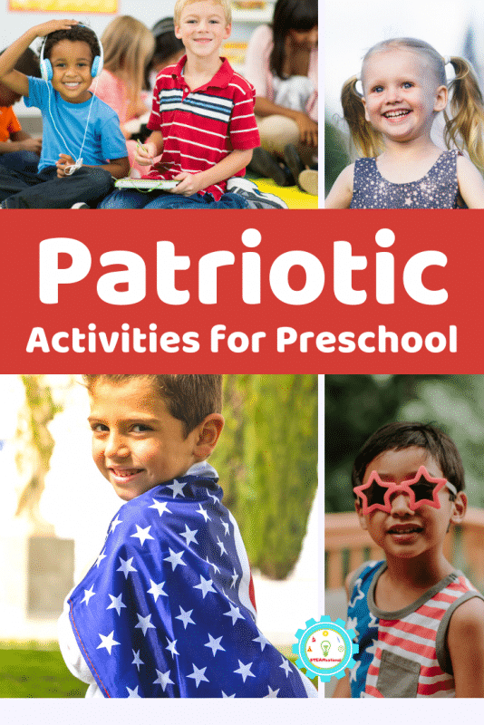 Easy patriotic activities for preschool! 10+ fun preschool activity ideas for daycare, home, summer camps, and other summer programs!