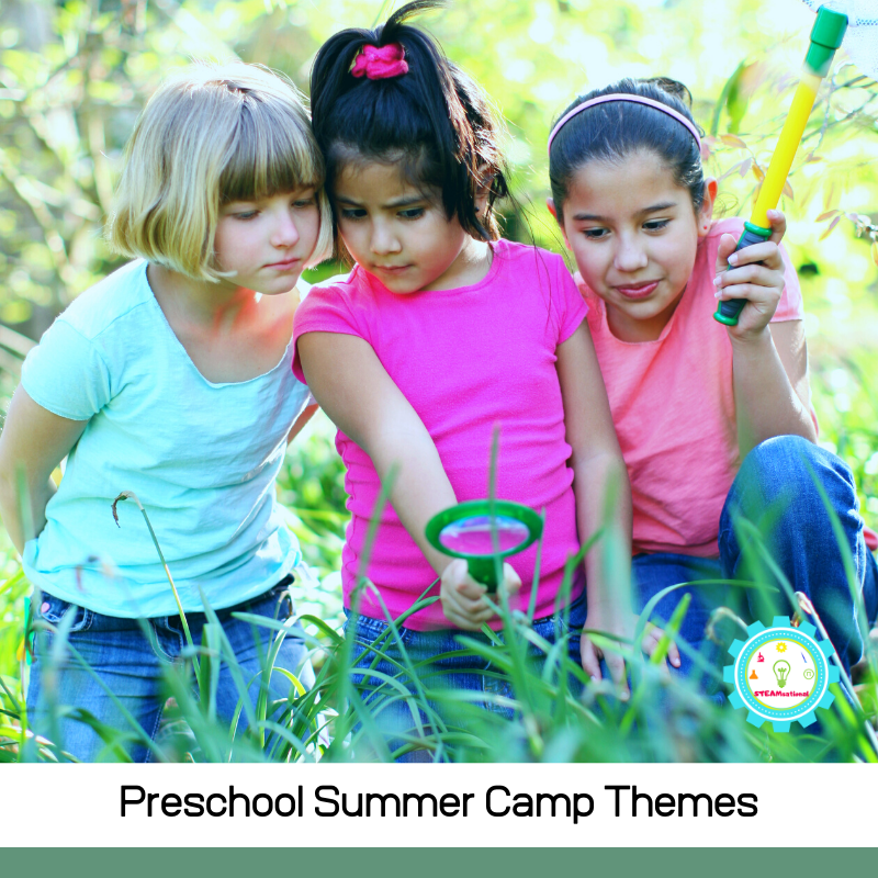 11+ exciting preschool summer camp themes just for preschoolers! Little kids can get in on the summer camp too with these theme ideas!