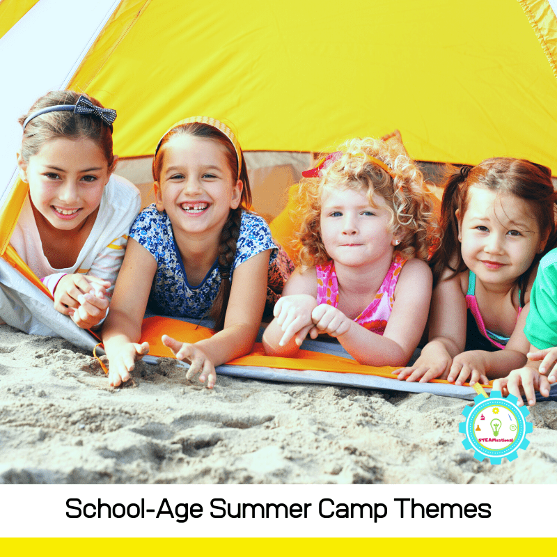 School age kids love summer camp! These summer camp themes are perfect for kids in school!