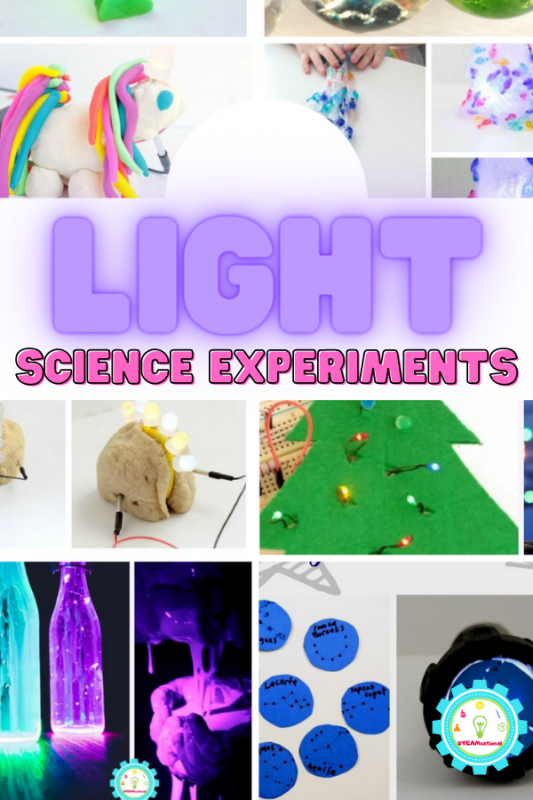 This list of fun science experiments for kids are a great way to show kids that it's fun to learn by using hands-on experiments as well. These light science activities are all simple and easy to do and produce really bright and cool results!