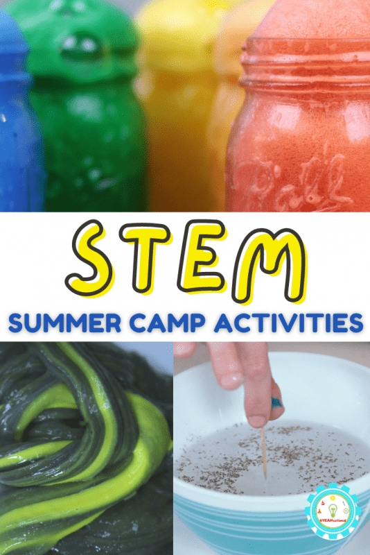 Some STEM activities can be a lot. But these summer camp STEM activities are a little! A little prep, a little mess, but a whole lot of fun!