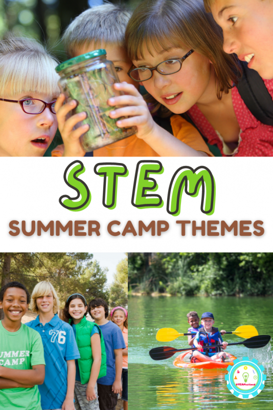These STEM summer camp themes are designed with busy adults in mind. None of the activities are complicated, take weird supplies, or will add extra burden to your camp week in any way!