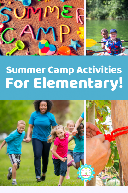 Elementary kids will love these classic summer camp activities! Summer camp activities for elementary are super fun to try!