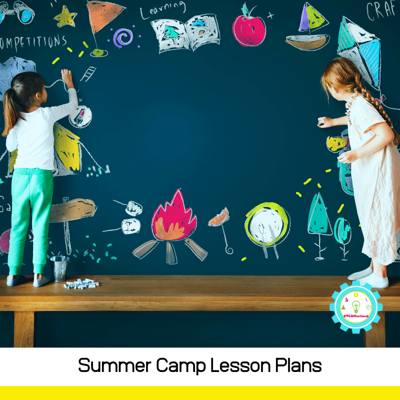 These summer camp lesson plans have everything you need to teach summer camp! Low-prep lesson plans that are super easy to implement!