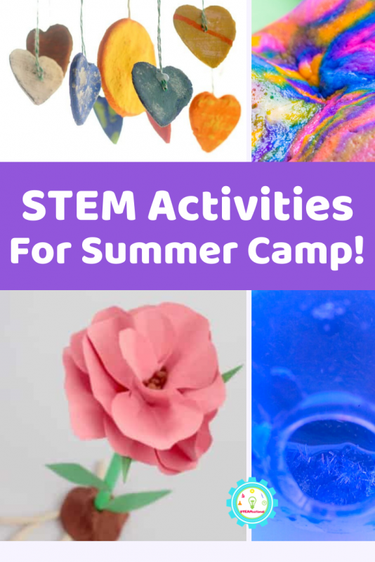 STEM and summer camp just go together! Find everything you need to plan colorful and fun summer camp STEM activities right here!