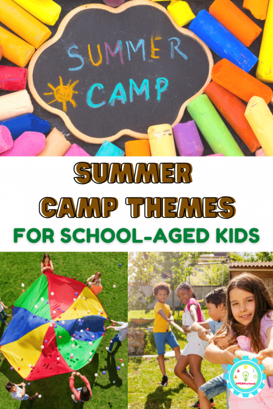 11+ school age summer camp themes that are low prep and tons of fun for kids! Perfect for summer camp counselors and teachers!
