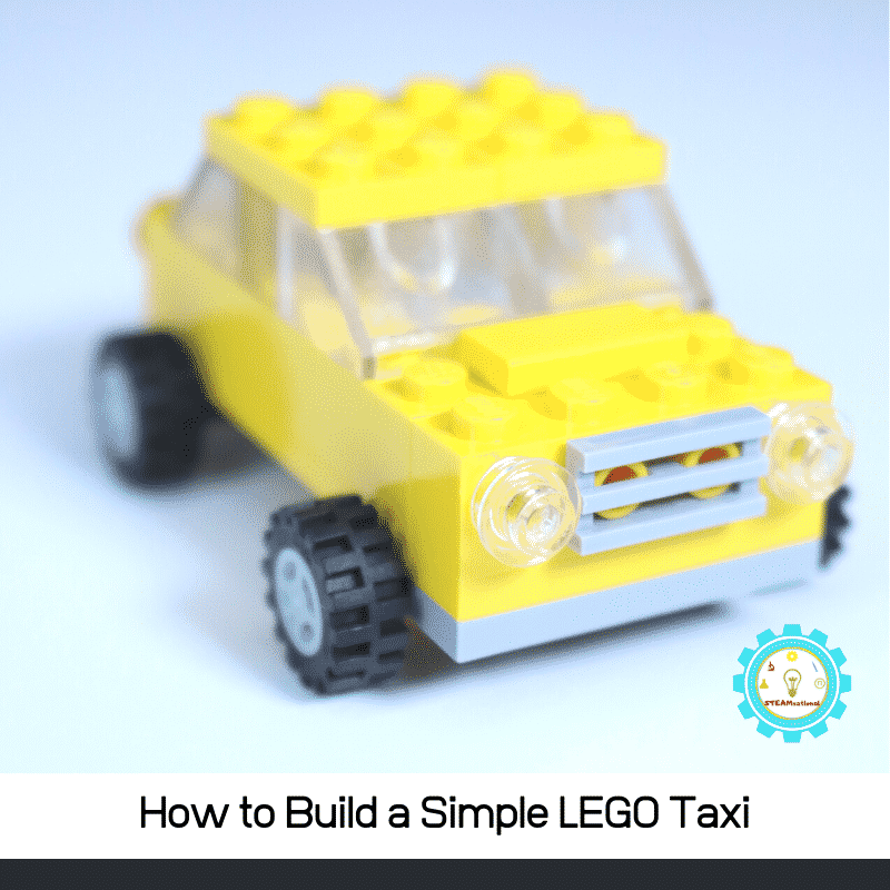 Build a simple LEGO car with these step-by-step directions! In 5 minutes you'll have an adorable LEGO taxi.