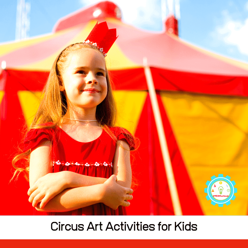 Calling all circus lovers! These circus art activities are perfect for adding circus craft flair to the classroom or just for fun at home!