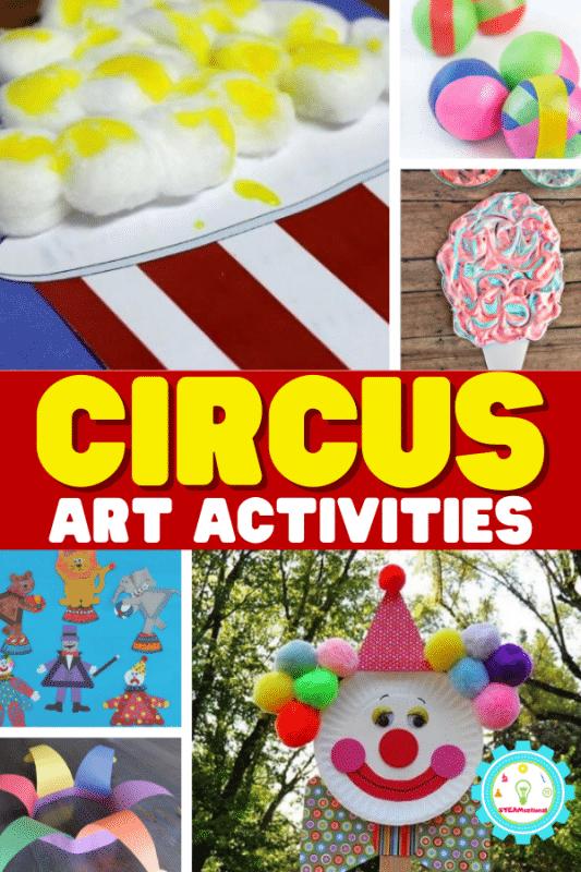 Bringen Sie die Magie des Zirkus mit diesen Zirkuskunstaktivitäten nach Hause oder ins Klassenzimmer!  Kinder werden viel Spaß mit diesem Zirkushandwerk haben.