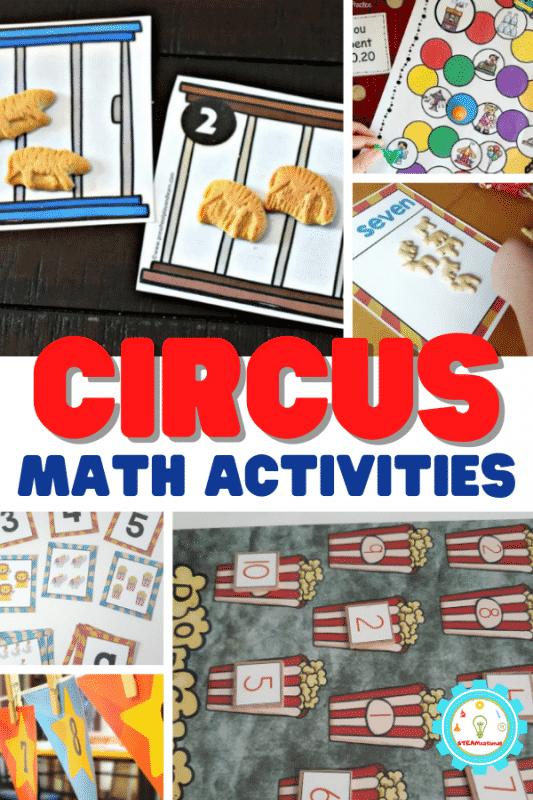 Probieren Sie diese lustigen mathematischen Aktivitäten zum Thema Zirkus mit Ihrem Klassenzimmer oder Ihren Kindern als Teil eines Zirkusthemas aus!