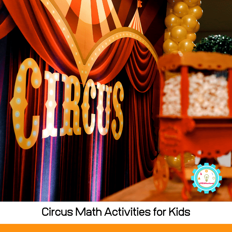 Math is exciting with these hands-on circus math activities! Early learners will love these circus-themed math problems to solve!