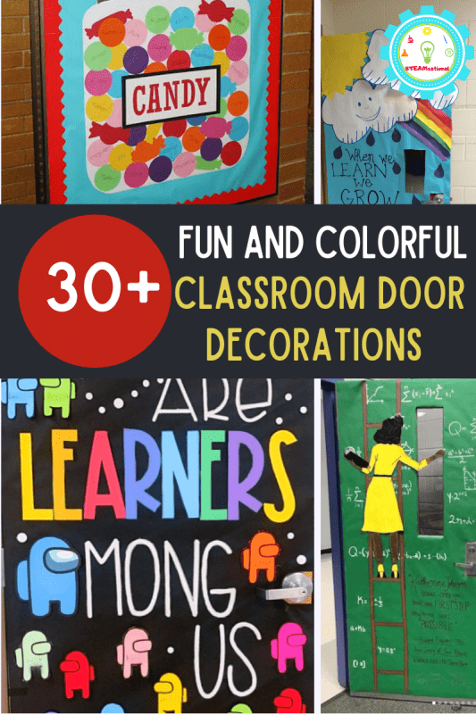 Welcome your students to the classroom with these fun and colorful classroom door decorations! (They make great bulletin boards, too!)