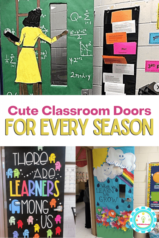 These classroom door ideas are tons of fun! So many classroom door themes for every season, holiday, and month!