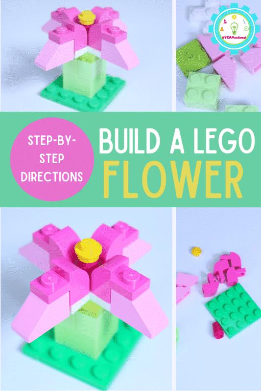 Erfahren Sie, wie Sie eine LEGO-Blume in 3D bauen!  Es ist einfacher als du denkst und einer der einfachsten LEGO-Builds, der perfekt für LEGO-Anfänger geeignet ist.