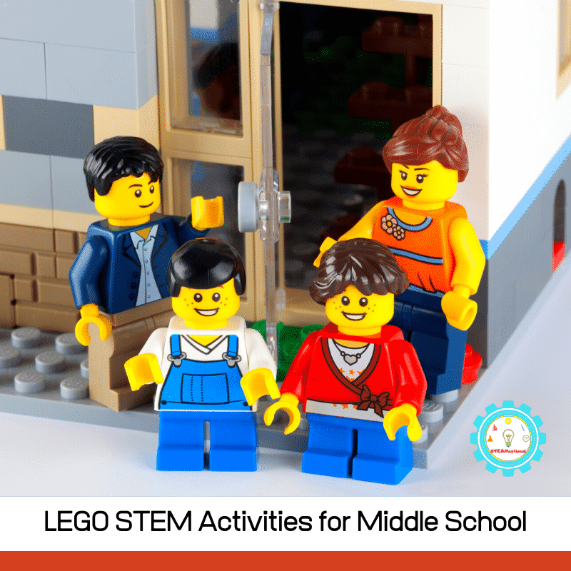 20 LEGO STEM activities for middle school! From building a working zip line to creating a model of the Eiffel Tower, LEGO STEM is tons of fun!