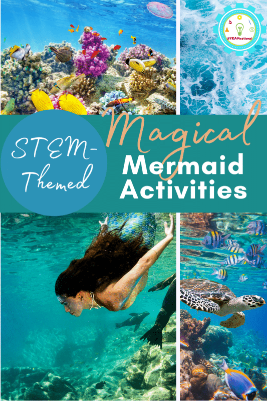 11+ magical and fun mermaid STEM activities! These STEM mermaid activities for kids teach science, technology, engineering, and math!