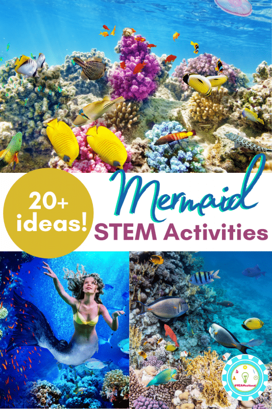 Combine magic and science with these mermaid STEM activities! Mermaid science is fun in these mermaid activities.
