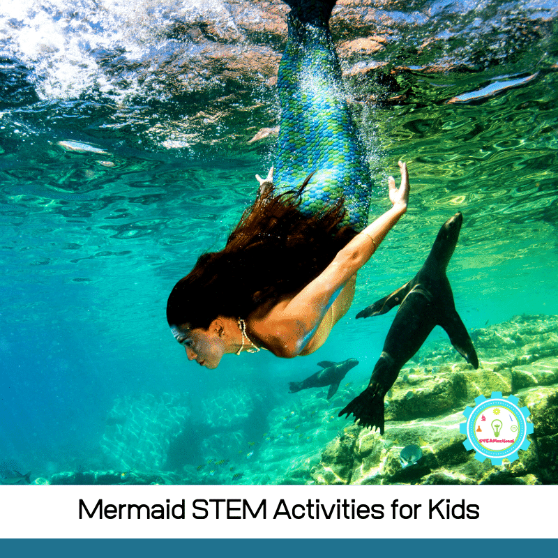 11 exciting mermaid STEM projects and mermaid STEM activities for kids! These mermaid activities go beyond crafts to teach kids the basics of science.