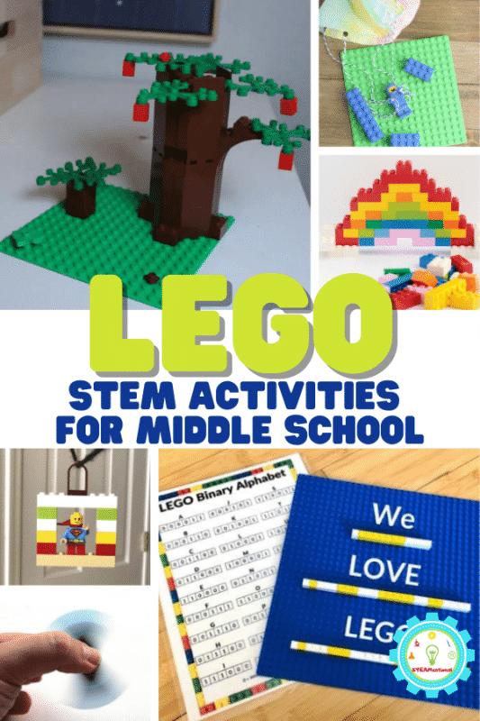 Wenn Sie nach einer Möglichkeit suchen, Ihre Mittelschüler wieder für das Lernen zu begeistern, sind diese LEGO STEM-Aktivitäten für die Mittelschule perfekt!