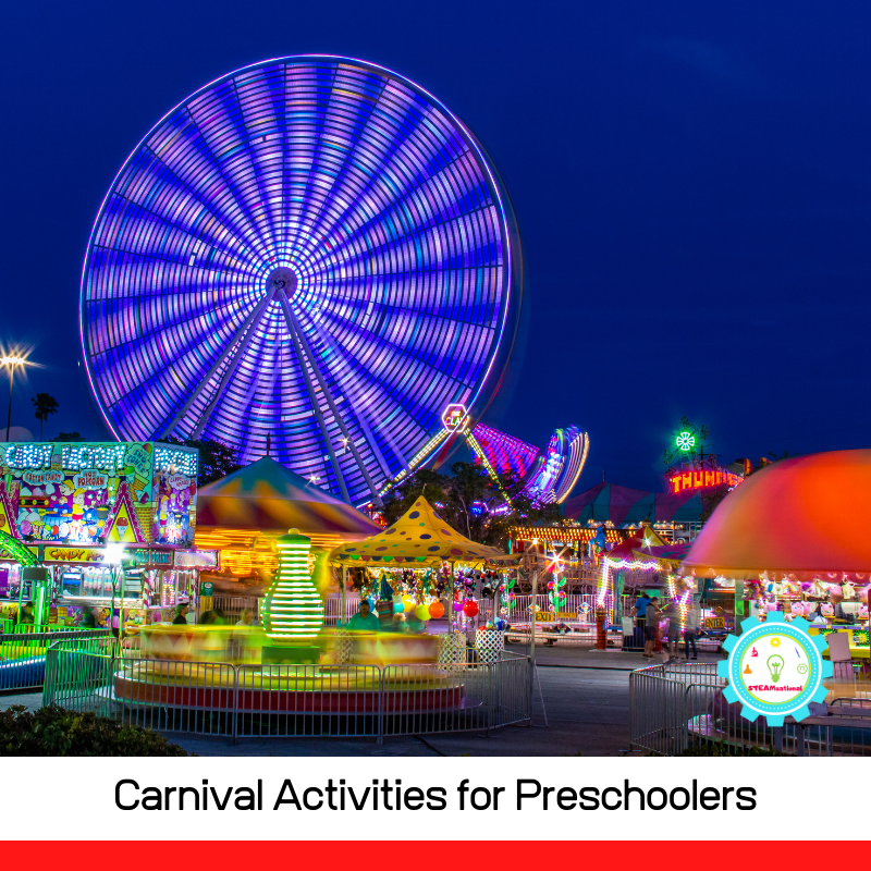 20+ fun and hands-on carnival activities for preschoolers! Bring the spirit of the carnival into the preschool classrom!