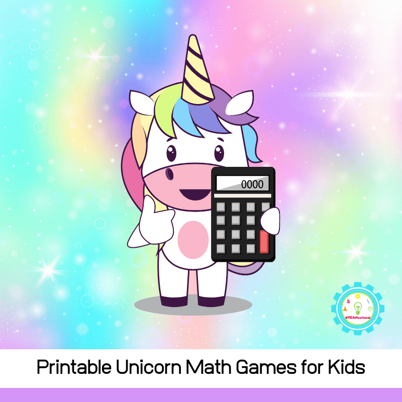 Printable unicorn math games are a lot of fun for kids! Early learners will love these unicorn math activities.