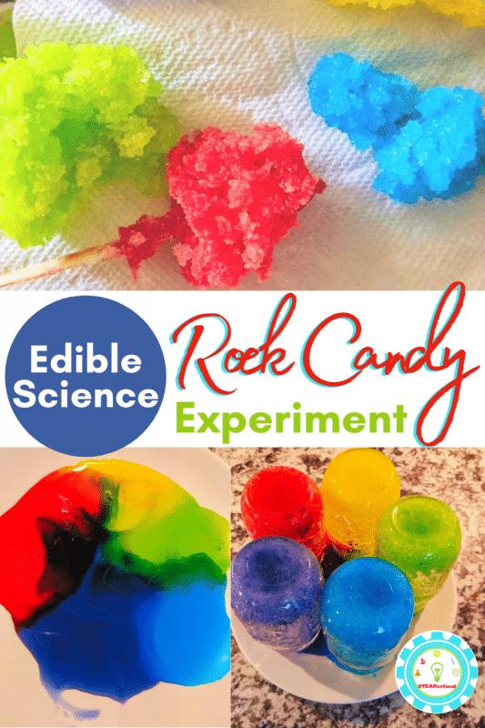 Erfahren Sie, wie Sie schnell Kandiszucker herstellen können!  Das Wissenschaftsexperiment mit Kandiszucker ist ein unterhaltsames essbares Wissenschaftsprojekt, das Kinder lieben werden!
