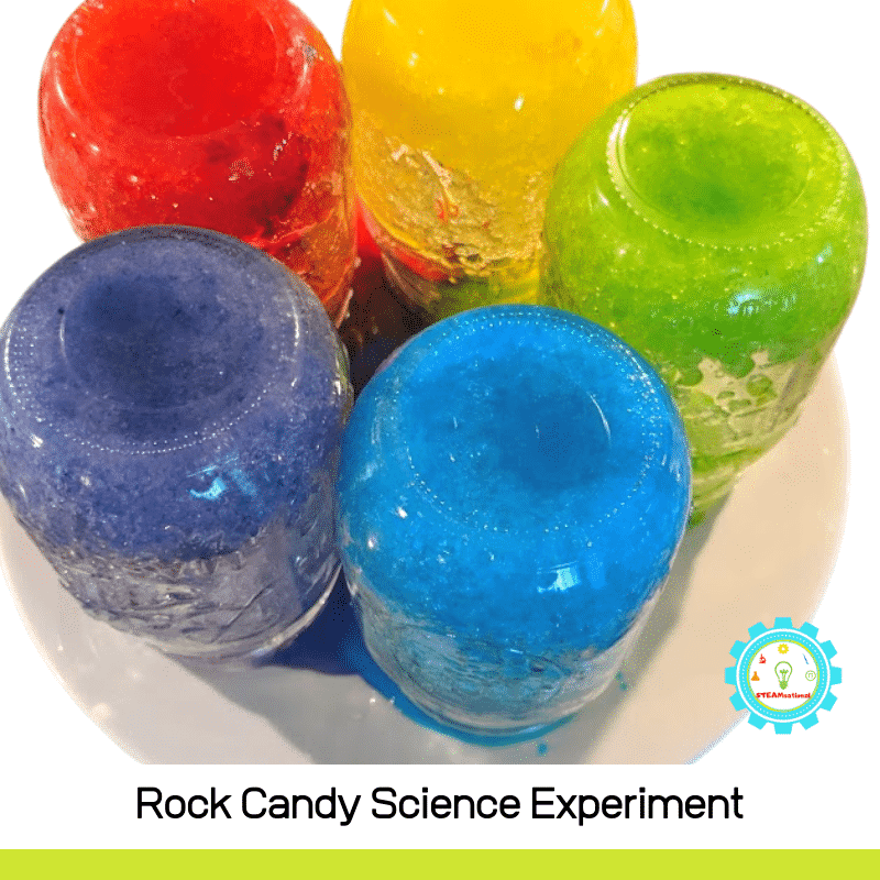 Every science loving kiddo should make rock candy at least once! The rock candy experiment for kids shows kids the fastest way to make rock candy!