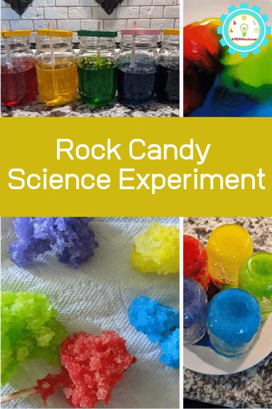 Wie macht man Kandiszucker am schnellsten?  Finde es heraus in diesem Kandis-Experiment für Kinder!  Machen Sie essbare Bergkristalle in Rekordzeit!