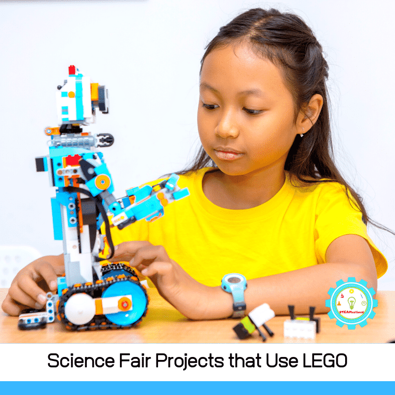 Over 20 ideas for science fair projects with LEGOs! These LEGO science fair projects mix a love of LEGO with a love of science!