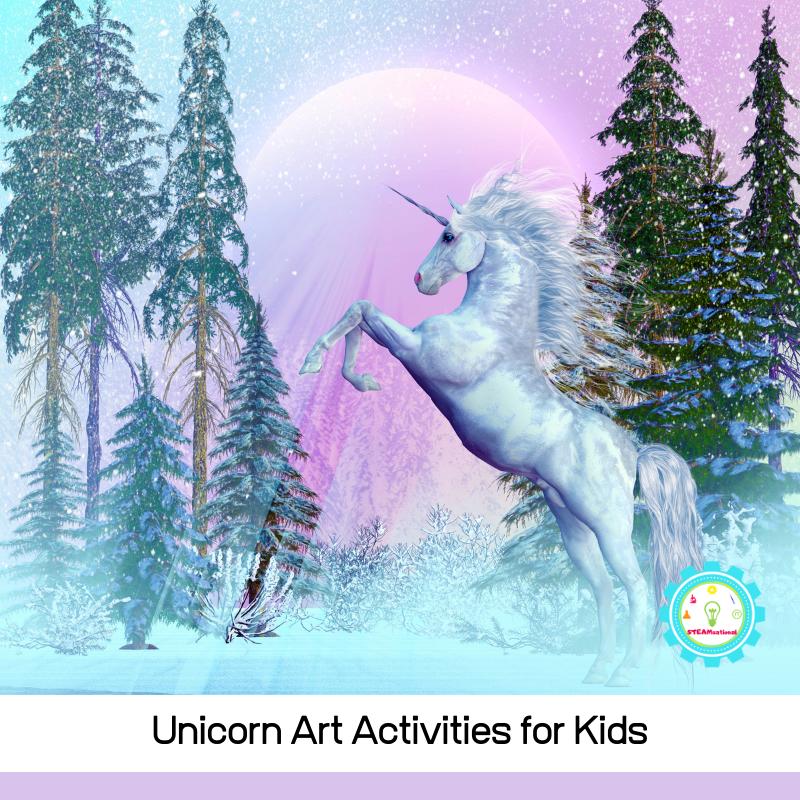 Unicorn art ideas for unicorn fans! Kid-friendly art that they can make alone! So many unicorn art project ideas!