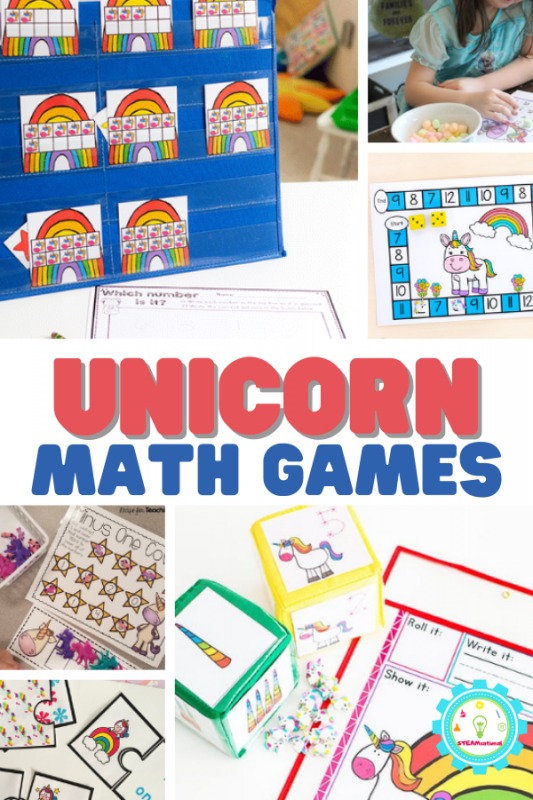Unicorn lovers will enjoy these fun unicorn math games for early learners! Perfect for the classroom or at-home practice.