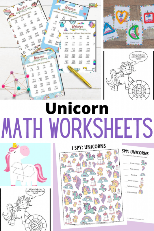 Put those unicorns to work learning math! These unicorn math worksheets will provide tons of fun math learning for early learners.