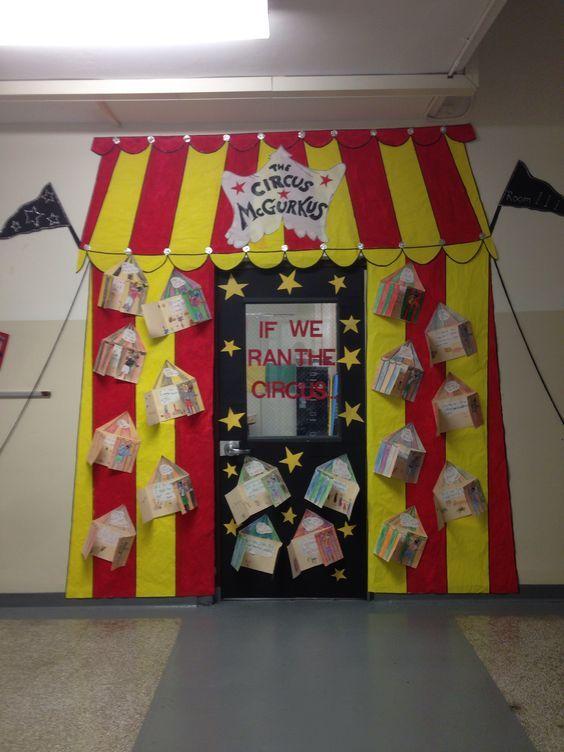big top circus classroom door