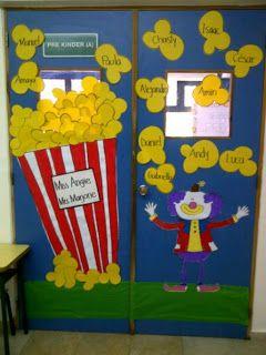 clown circus classroom door